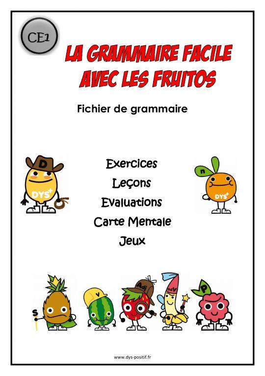 Grammaire CE1 - Méthode Fruitos