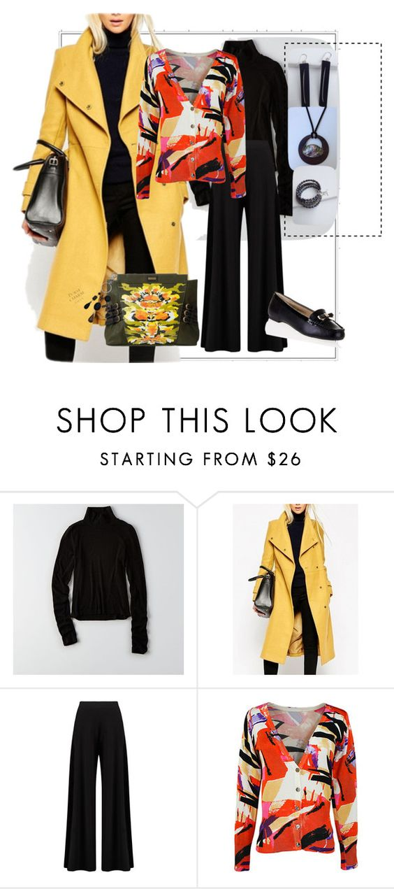 """""""Trench coat to brighten a rainy day!"""" by judyrstinson ❤ liked on Polyvore featuring American Eagle Outfitters and Boohoo"""