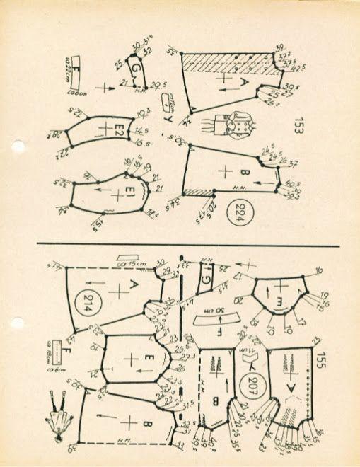 Archivo De Albumes 1954 Zolotoe Sechenie Vykrojki Diagram Sewing Patterns Kawasaki Ninja