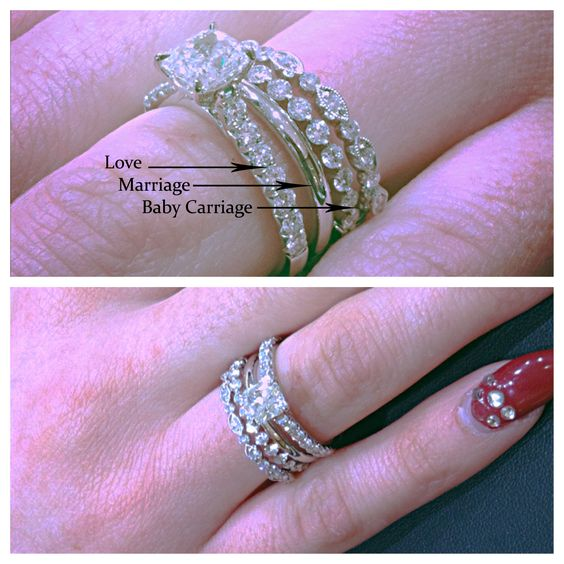 Serenity Burys Mommy And Daddy Jpg 2100 1500 Then Comes The Surprising Wedding Band That Fits Around Engagement Ring