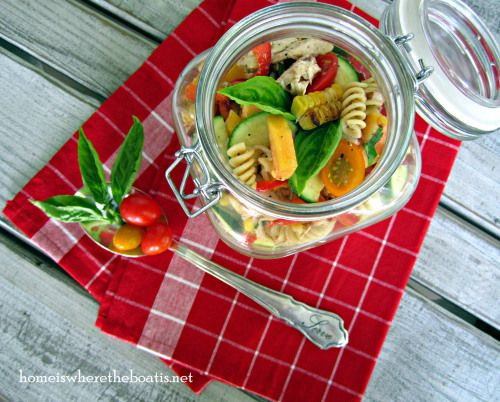 Farmers Market Pasta Salad, perfect for tailgating or a picnic~
