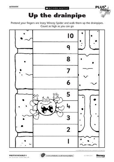 Free Printable Worksheet Itsy Bitsy Spider Pinterest