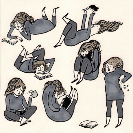 Image result for different reading positions joke