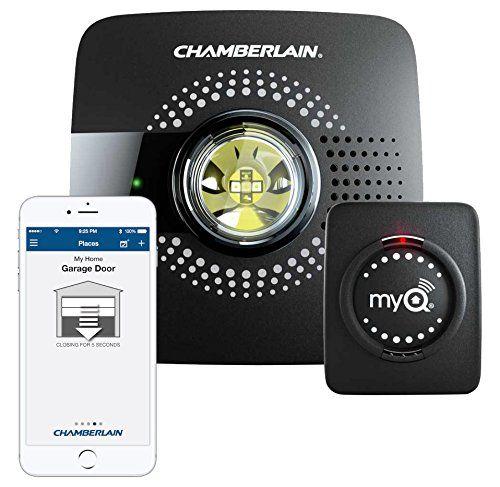 Myq Smart Garage Door Opener Chamberlain Myq G0301 Wireless Wi Fi Enabled Garage Hub With Smartphone Control Smart Garage Door Opener Garage Doors Smart Home Automation