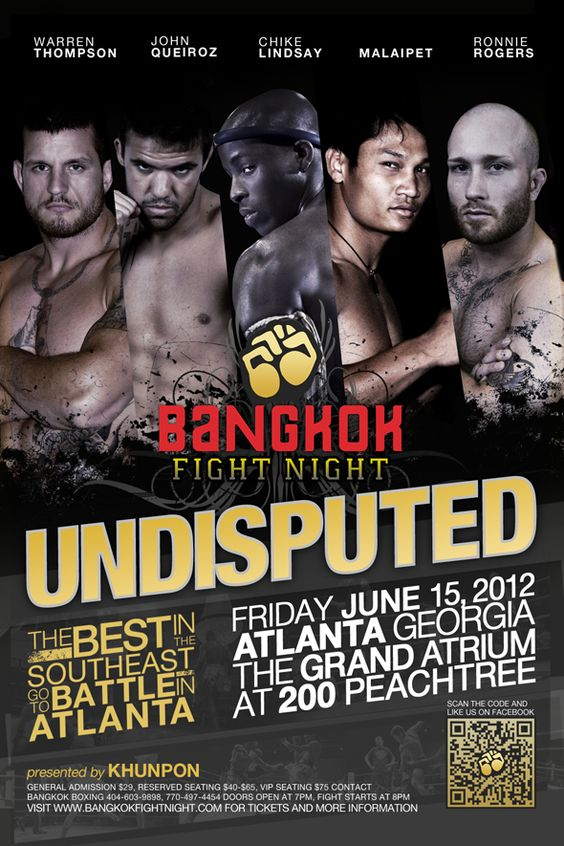 MMA VIDEO BANGKOK FIGHT NIGHT UNDISPUTED IN ATLANTA MMA News - ufc flyer template