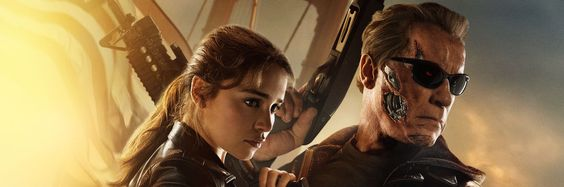 Exclusive: Sarah Connor and The T-800 Team Up in New TERMINATOR: GENISYS Poster