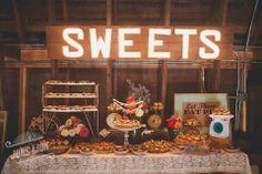 desserts table wedding barn - Google Search