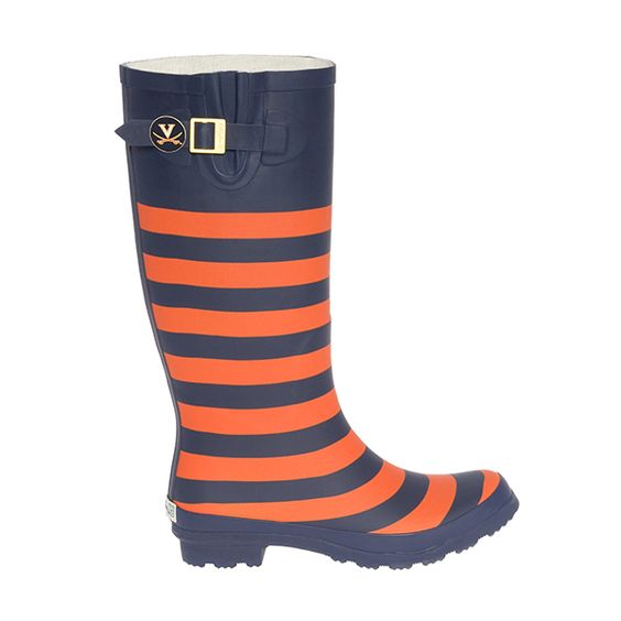 lillybee - University of Virginia Striped Rainboot, $84.00 (http://www.lillybee.com/university-of-virginia-striped-rainboot/)