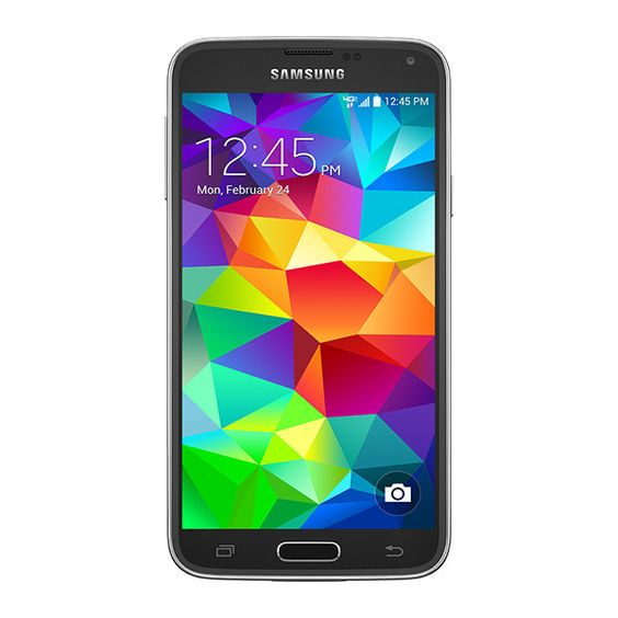 Samsung Galaxy S 5 (Verizon Charcoal Black ❤ liked on Polyvore featuring accessories and samsung