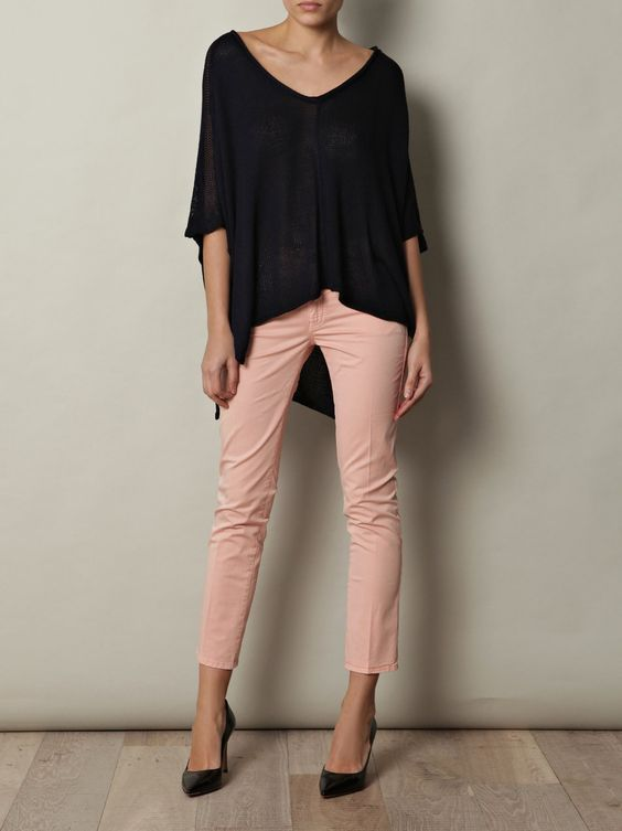 Peach jeans / capri pants