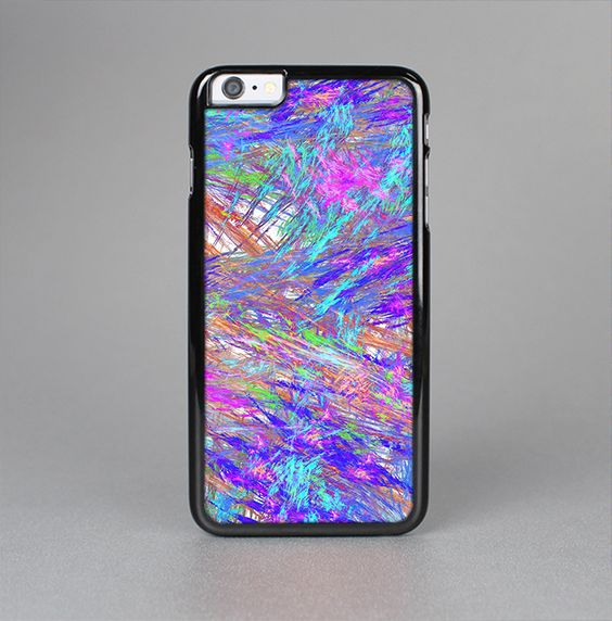 The Abstract Colorful Oil Paint Splatter Strokes Skin-Sert for the Apple iPhone 6 Plus Skin-Sert Case