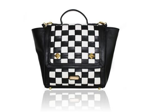 Vegan Shoes & Bags: Coco Satchel Bag by Gunas in Black/Multi