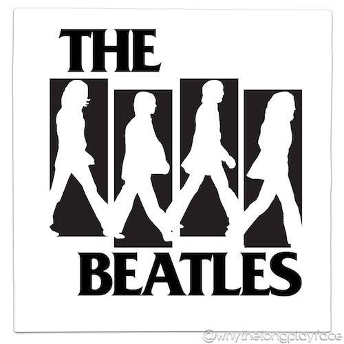Black Flag Logo The Beatles Abbey Road Mash Up Vinyl Record Art Print Alternative Version Blackflag Henryrollins The Beatles Beatles Art Vinyl Record Art