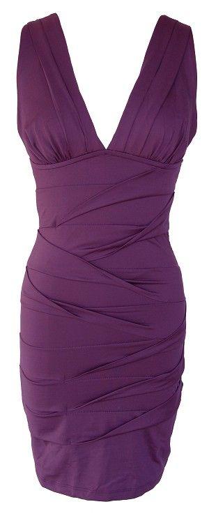 40 Purple Bandage Sleeveless Cocktail Dress