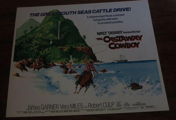 1974 WALT DISNEY'S THE CASTAWAY COWBOY-FULL SET OF 9 UNUSED LOBBY CARDS