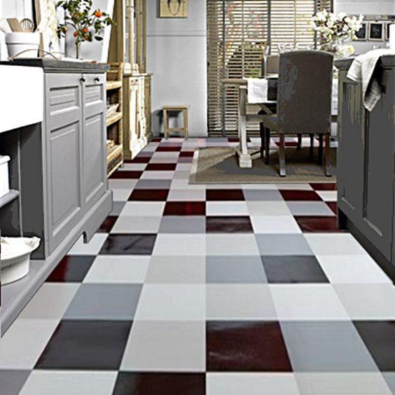 Modern Bathroom Vinyl Flooring: Tarkett Modern Living Hekto Grey Black Cushioned Vinyl