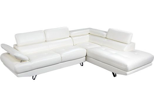 Amazon.com   Modern Newport Compact White Leather Sectional Sofa   | LIVING  ROOM | Pinterest | Leather Sectional Sofas, Garden Sofa And Leather  Sectional