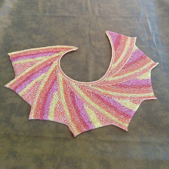 Tunisian Wingspan Shawl - free pattern Crochet Accessories Pinterest Ra...