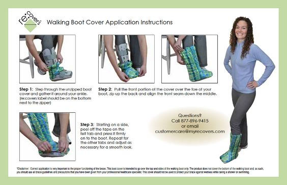 orthopedic walking boot instructions