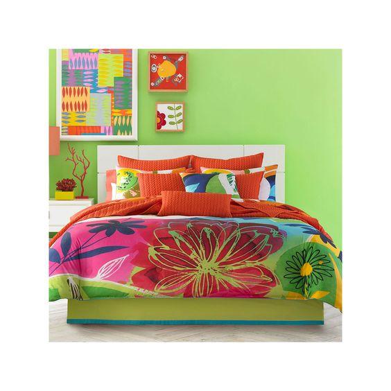 Valley of Flowers Aqua muilticolor Twin Comforter set