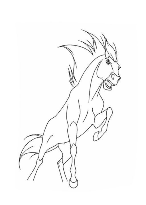 Spirit Malvorlagen Gratis Horse Coloring Pages Spirit Drawing Spirit And Rain