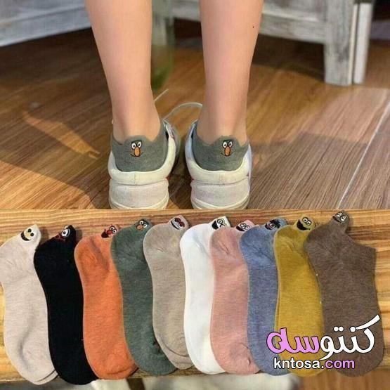 جوارب نسائية شربات حريمية لاحلي شتويه 2020 موديلات جوارب بنات اخر موضة Women Socks Fashion Casual Socks Funny Socks Women