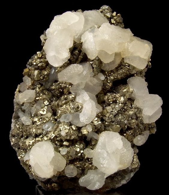 + Calcite on pyrite