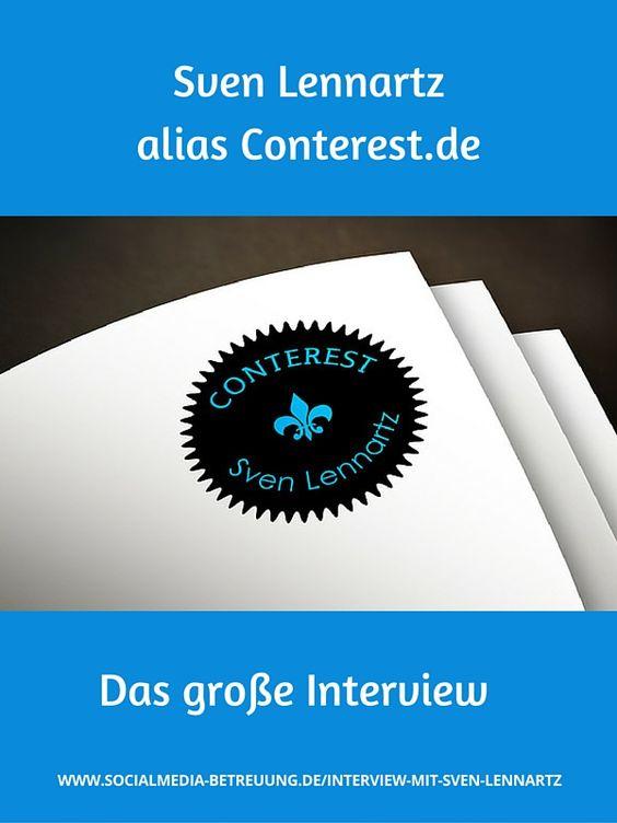 Ein spannendes Interview mit Sven Lennartz von Conterest. Bei Conterest geht es um das Bloggen an sich – in all seinen vielfältigen Aspekten. Ich möchte motivieren, zum Schreiben und Denken anregen, gut gemachte Blogs fördern, die Leute fordern und zur Zusammenarbeit bringen, aber auch warnen und wo ich es für nötig halte Kritik üben, nicht jedem Mist nachlaufen.