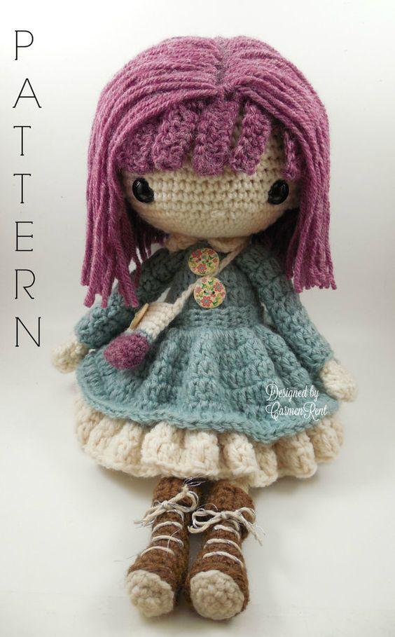 Amigurumi Doll Pdf : Kendra amigurumi doll crochet pattern pdf patterns