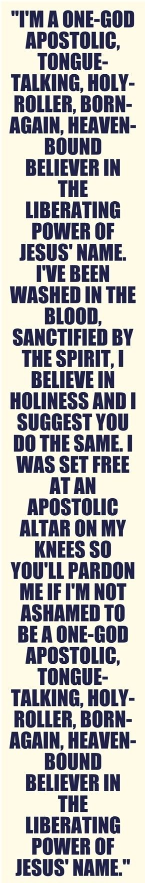 I'm Pentecostal Apostolic and it's better than you can imagine. Ask me how to join!: