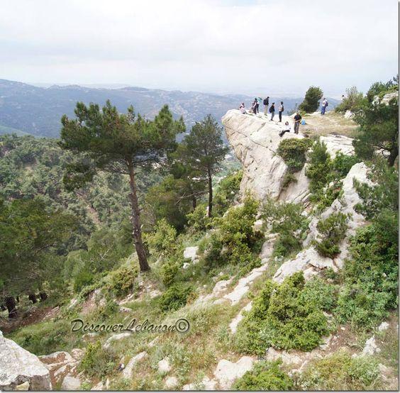 LEBANON, AKKAR, Cliff in Qoubaiyat