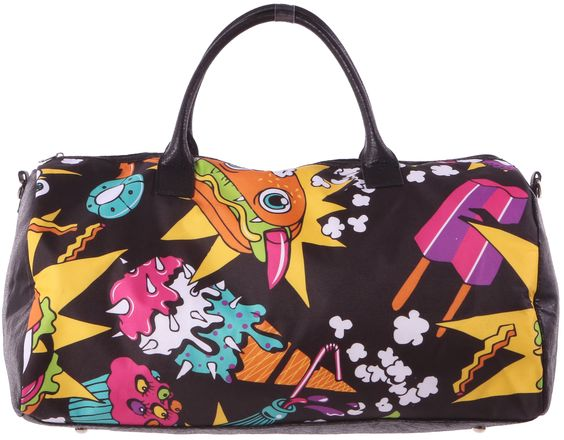 Iron Fist Ladies Killer Munchies Duffle in Black   100% Vegan  One Size