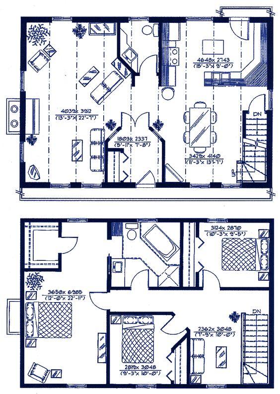 gambrel house plans | gambrel type economical-house-plans | houses