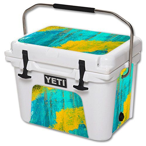 Mightyskins Protective Vinyl Skin Decal For Yeti Roadie 20 Qt Cooler Wrap Cover Sticker Skins Acrylic Blue You Can Ge Cool Wraps Yeti Tundra 45 Yeti Tundra
