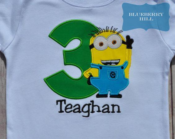 PERSONALIZED Custom Embroidered Minion by ShopBlueberryHill