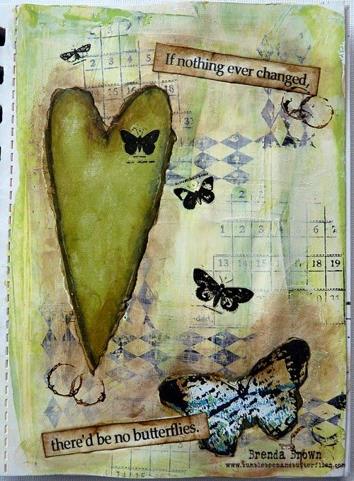 Bumblebees and Butterflies: Mini Journal Pages; May 2014