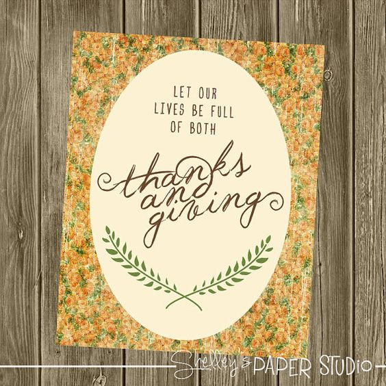 Thanksgiving Printable Art Decor 8x10 by shelleyspaperstudio, $3.00