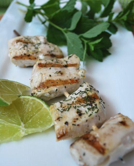 Grilled Mahi Mahi with Lemon Dill Aioli Sauce