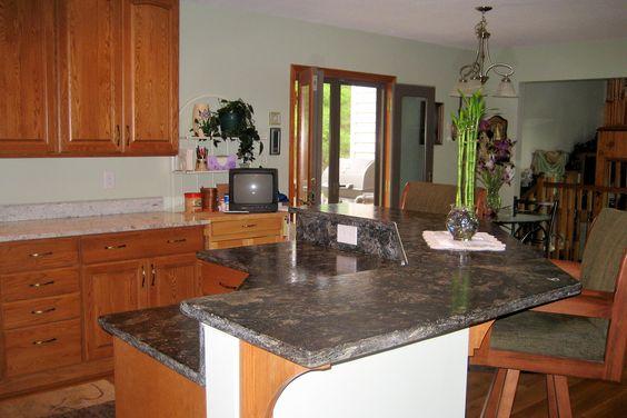 Two tier kitchen island | Kitchens | Pinterest | Kitchen ...