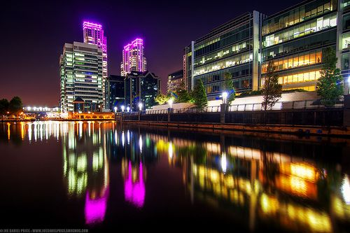 Skyscrapers at Canary Wharf, London, England