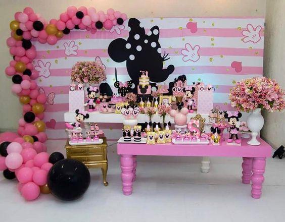 Fiesta De Minnie Mouse Rosa Dulce En 2019 Fiesta Minnie
