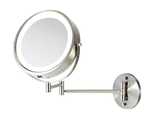 Moon Moon 7 Inch Led Lighted Wall Mount Makeup Mirror With 1x 5x Magnificationi œdouble Side Wall Mounted Makeup Mirror Makeup Mirror Makeup Mirror With Lights