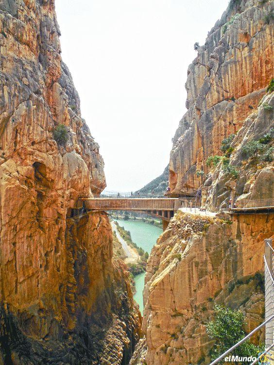 El Caminito lleno de adrenalina: Vista del puente