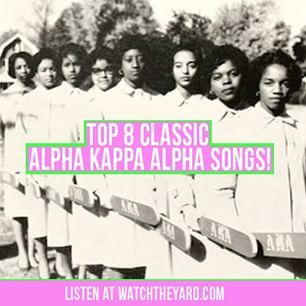 """Click on the link in our bio to view and listen to this list of the """"TOP 8 CLASSIC #ALPHAKAPPAALPHA SONGS"""" Did your favorite song make the list? Tag an AKA to let her know you are thinking about her on her #FoundersDay! #AKA107"""