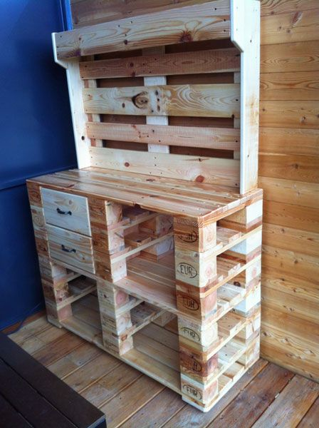 Palettenmöbel u2013 Tipps und Tricks Möbellexikon Pallet Desk - küche aus paletten bauen