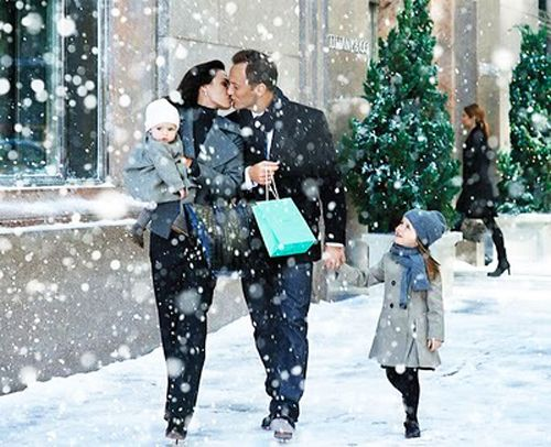 Family Christmas Picture.... The only time I wished it'd snow more this year
