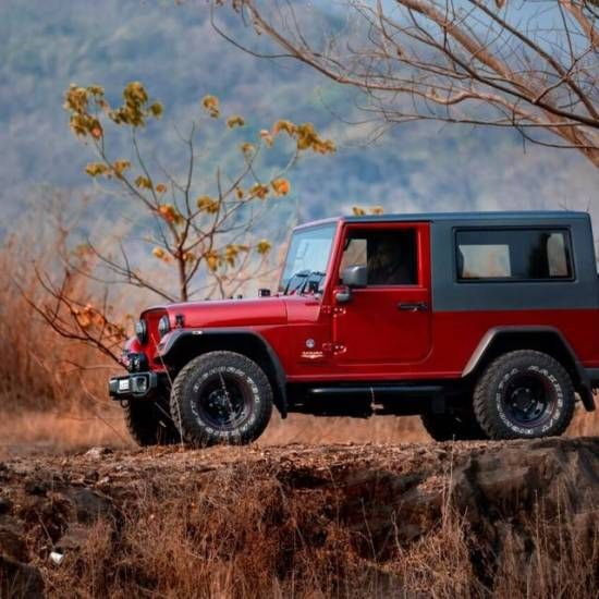 Thar To Wrangler Mod Jobs Are Getting Increasingly Popular And This Is The Cleanest One We Ve Seen So Far Mahindra Thar Jeep Images Mahindra Thar Jeep