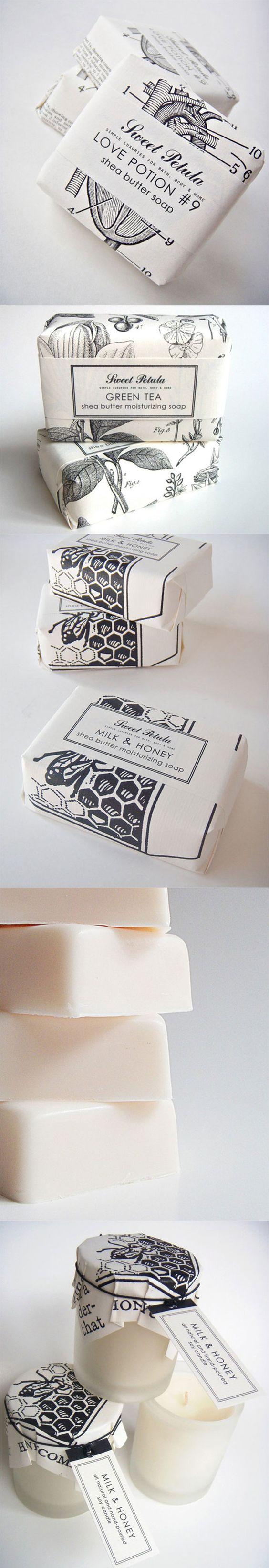 Packaging. Sweet Petula Handmade Soaps  http://sarastrand.se/blog/sweet-petula-handmade-soaps/