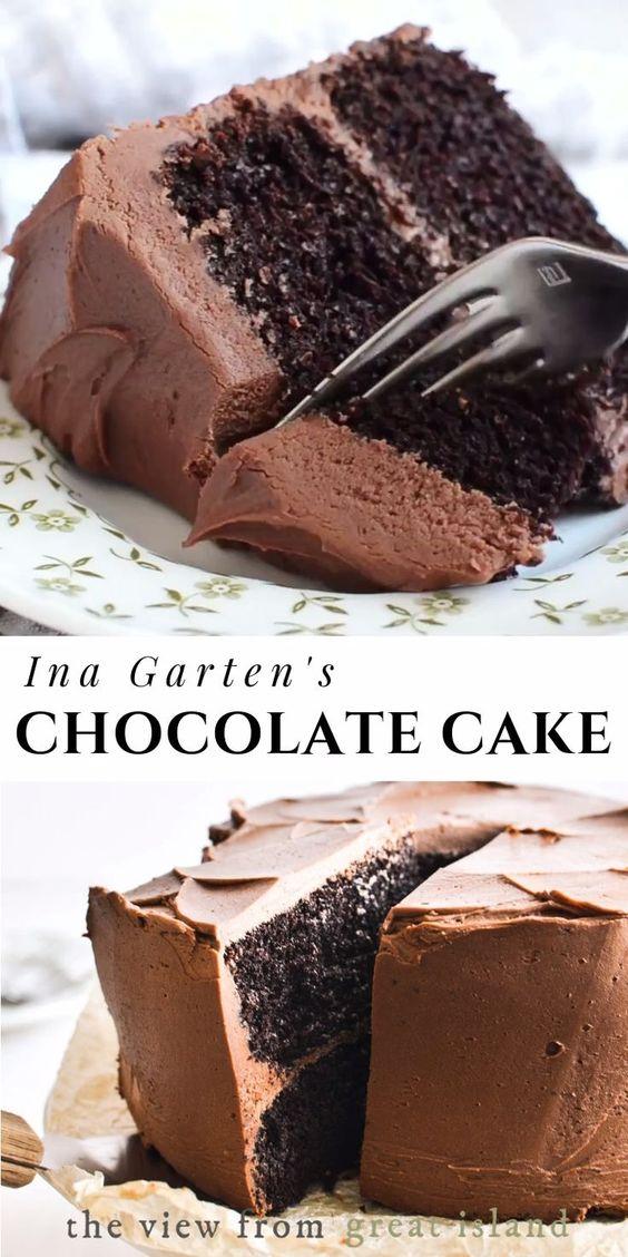 Ina Garten's Chocolate Cake Recipe