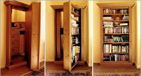 The o 39 jays awesome and secret passage on pinterest for Panic room plans